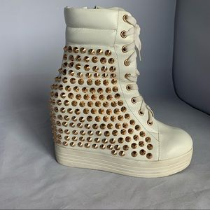 Jeffrey Campbell wedge stud platform sneakers sz 8